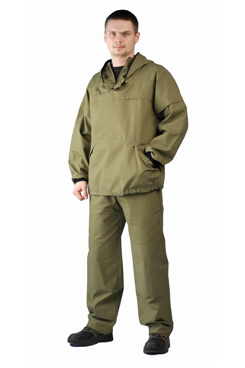 Костюм противоэнцефалитный мужской URSUS: куртка, брюки, цвет: хаки. КОС283-3800. Размер 60/62-182/188