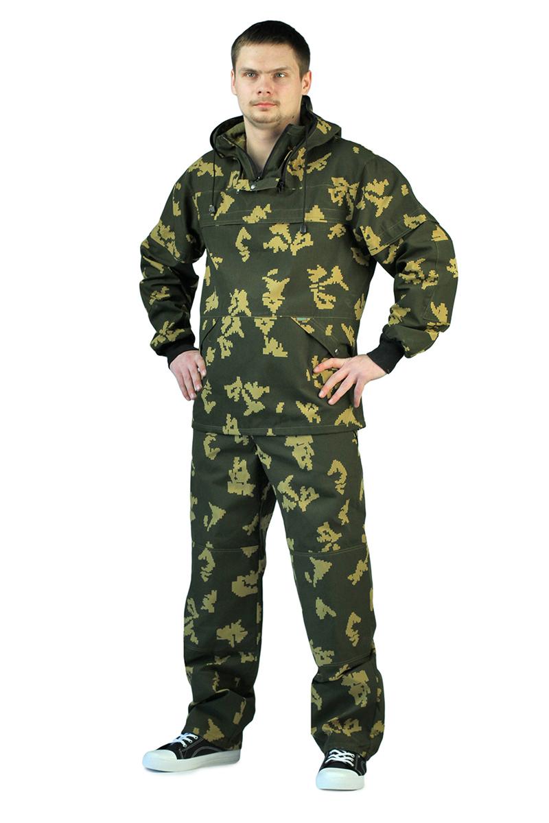 Костюм противоэнцефалитный мужской URSUS: куртка, брюки, цвет: хаки. КОС285-тсК2085. Размер 56/58-182/188