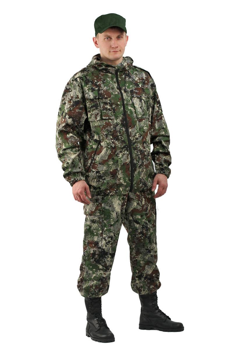 Костюм рыболовный мужской URSUS Турист 2: куртка, брюки, цвет: зеленый. КОС287-К66. Размер 44/46-182/188