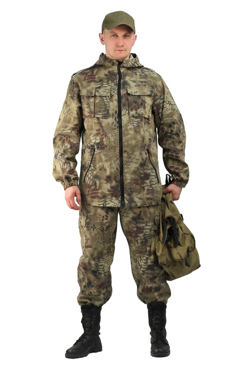 Костюм рыболовный мужской URSUS Турист 2: куртка, брюки, цвет: оливковый, коричневый. КОС287-К2141. Размер 44/46-182/188