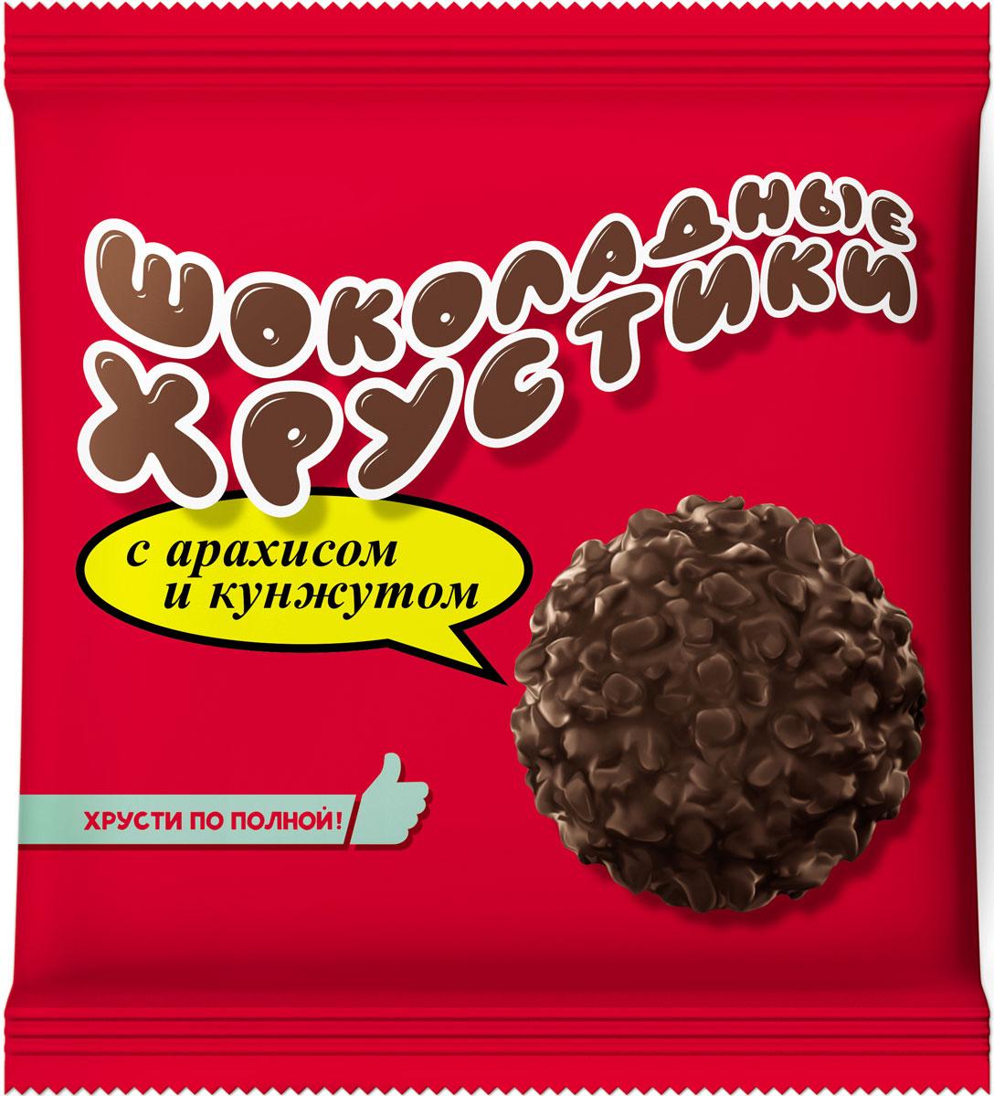 Шоколадные хрустики Конфеты с арахисом и кунжутом, 170 г вижер пряники шоколадные 350 г