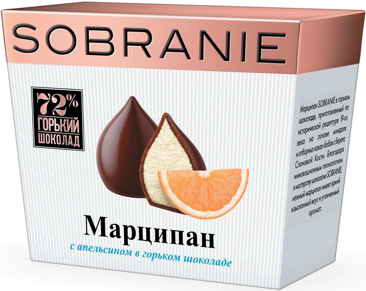 Sobranie Марципан в горьком шоколаде с апельсином конфеты, 150 г б ю александров сырки творожные глазированные в молочном шоколаде с ванилином 15% с игрушкой 150 г