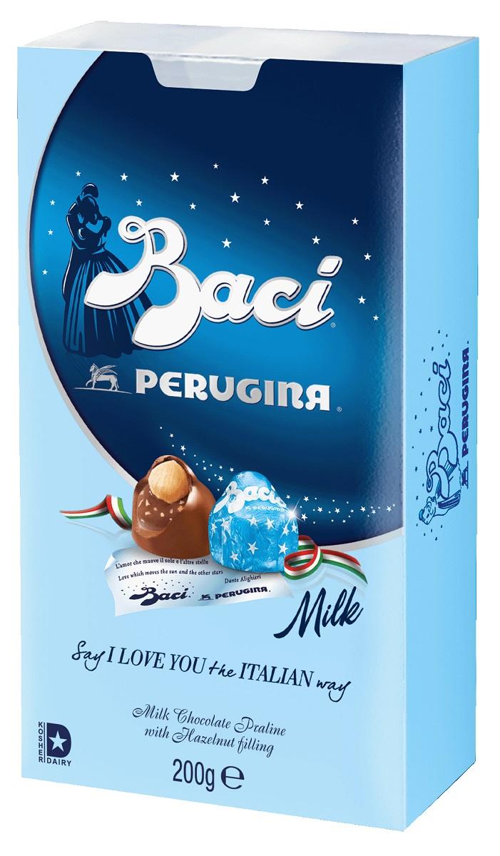 Baci Perugina конфеты молочный шоколад, 200 г gbs конфеты фигурные из молочного шоколада с воздушным рисом и фундуком 75 г