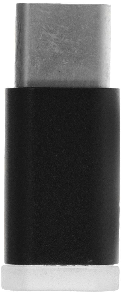 GCR GCR- UC3U2MF, Black переходник USB Type-C - micro USB 2.0 F