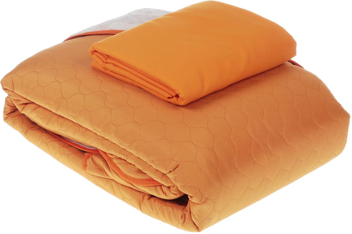 Одеяло  Sleep iX , наполнитель: синтепон, цвет: оранжевый, розовый, 220 х 240 см. pva220243 -  Одеяла