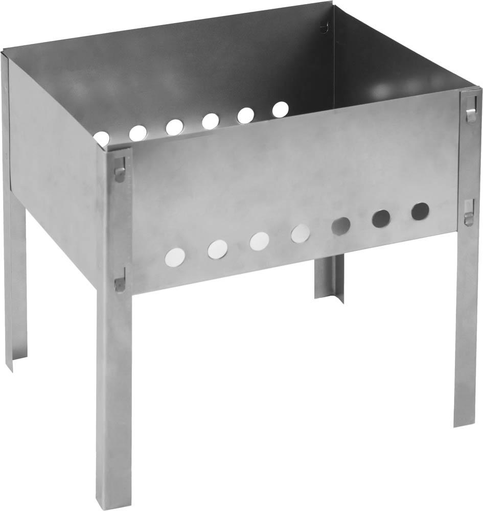 Мангал GRINDA предназначен для приготовления пищи на открытом огне или углях. Сборная конструкция обеспечивает удобство при хранении. Небольшие размеры и малый вес облегчают транспортировку. Устойчивые опоры надежно фиксируют положение мангала. Прорези для поддува в боковых стенках создают необходимую для тления углей тягу.