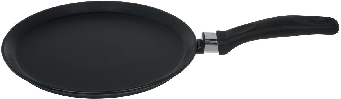 Кухонная посуда для ежедневного использования. Изготовлено из литого алюминия, антипригарное покрытие высокого качества с бакелитовой ручкой, на ручке есть ушко для подвешивания. Можно мыть в посудомоечной машине.