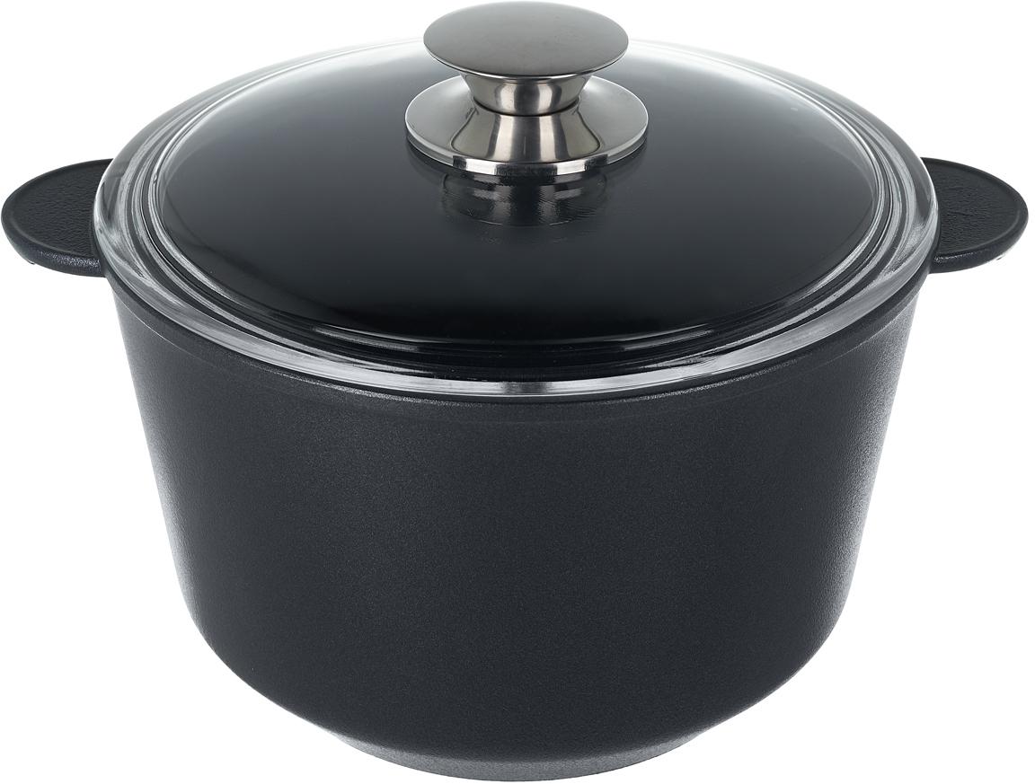 Кастрюля Renard Silver Grey, с крышкой, 4 л посуда кухонная