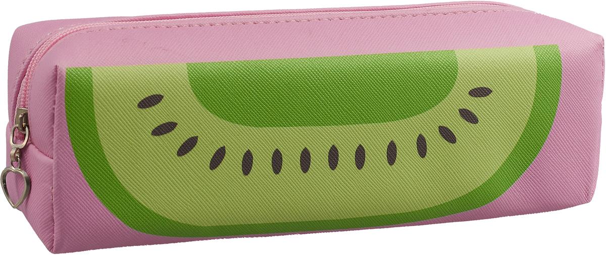 Calligrata Пенал школьный Фрукты/Ягоды цвет розовый футболка print bar фрукты и ягоды