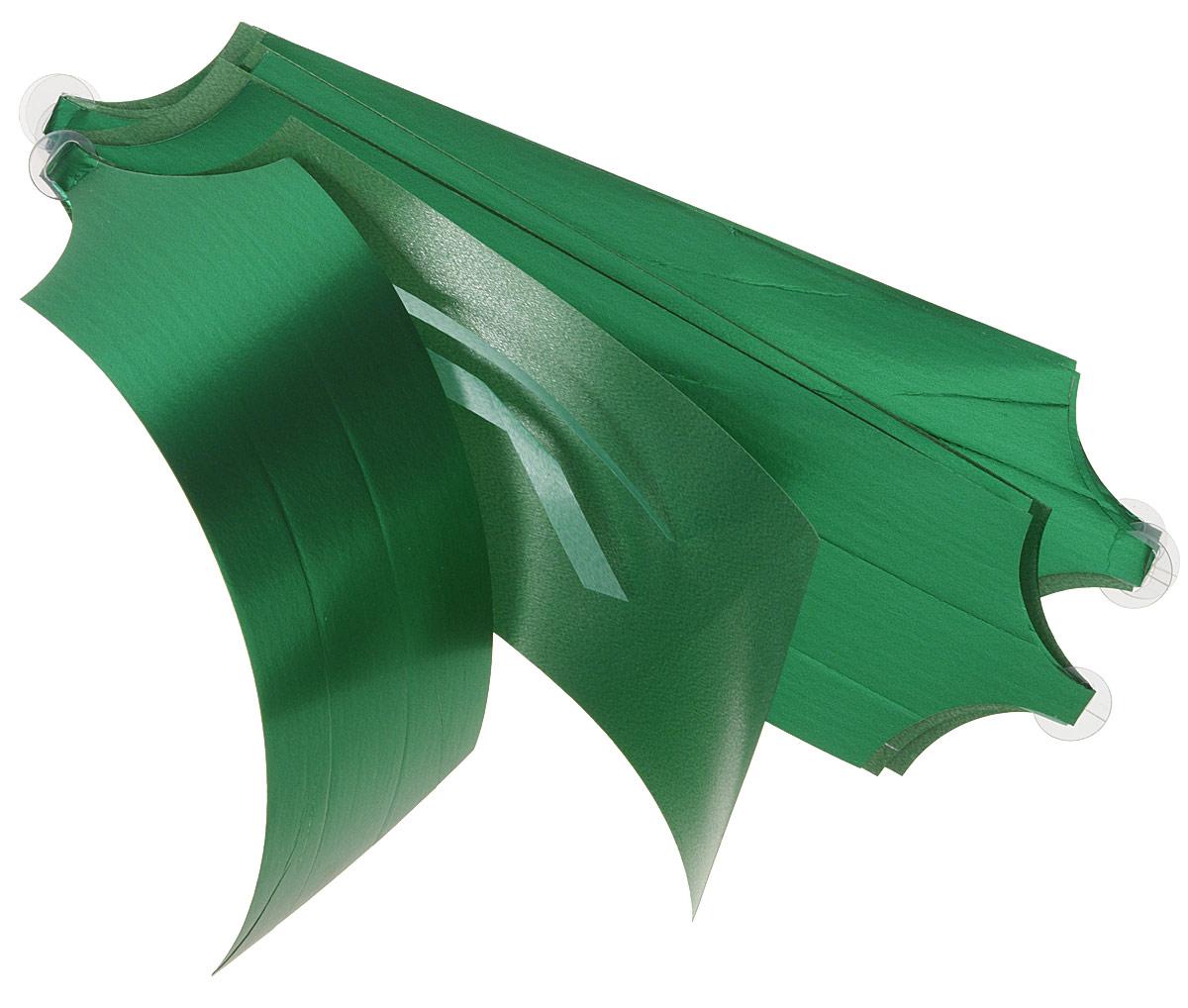 Бант упаковочный Veld-Co Шар, цвет: зеленый, 5 х 148 см, 10 шт скейтборд пластиковый action цвет зеленый дека 55 см х 15 см