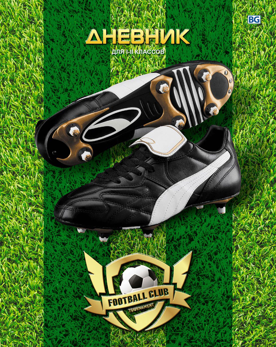 BG Дневник школьный Football club цвет зеленый tiebao c1220a tf outdoor lawn football shoes lace up breathable insole soccer shoes men women training football boots