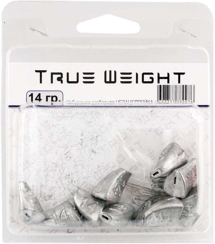 Груз True Weight, чебурашка разборная, незацепляйка, 14 г, 10 шт