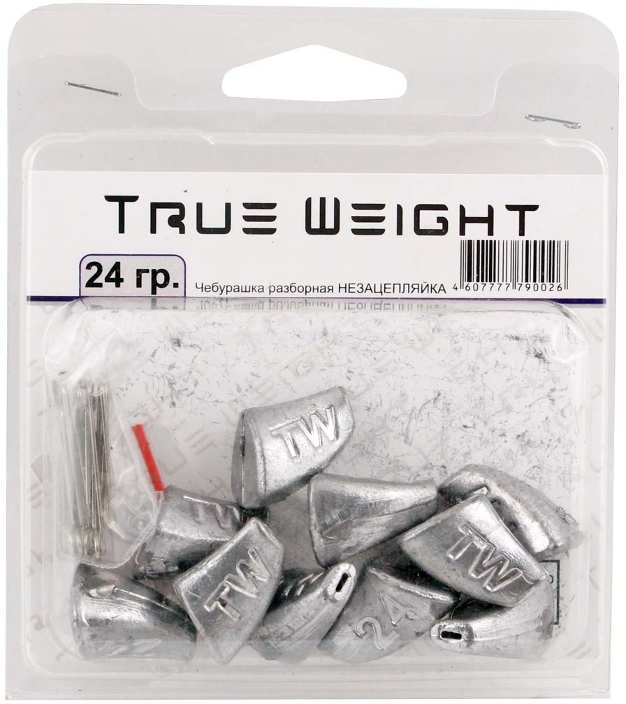 Груз True Weight, чебурашка разборная, незацепляйка, 24 г, 10 шт