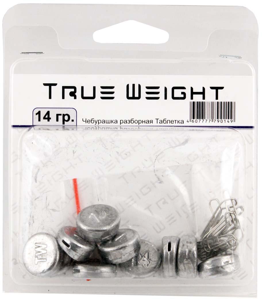Груз True Weight, чебурашка разборная, таблетка, 14 г, 10 шт