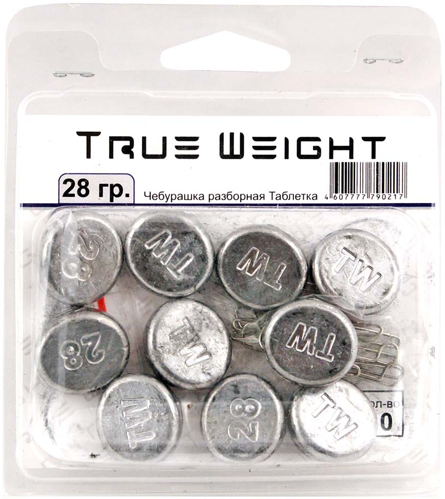 Груз True Weight, чебурашка разборная, таблетка, 28 г, 10 шт