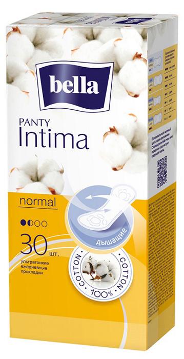 Bella Panty Прокладки ежедневные ультратонкие Intima Normal, 30 шт гигиена для мамы libresse ежедневные прокладки dailyfresh normal ультратонкие 20 шт