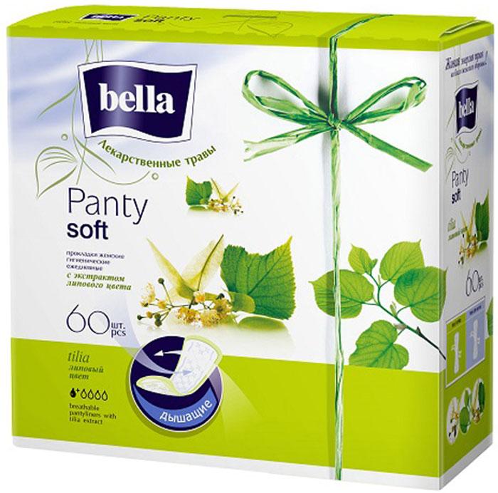 Bella Прокладки ежедневные с экстрактом липового цвета Panty Soft Tilia, 60 шт прокладки в бюстгальтер avent scf254 60 дневные 60 шт
