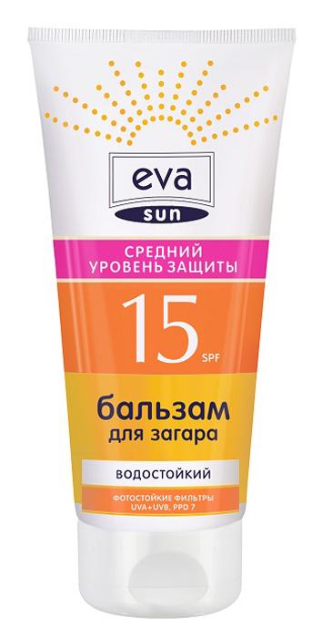 Pollena Eva Бальзам для загара Eva Sun средний уровень защиты SPF 15, 200 мл ева sun бальзам после загара купания sos 200мл