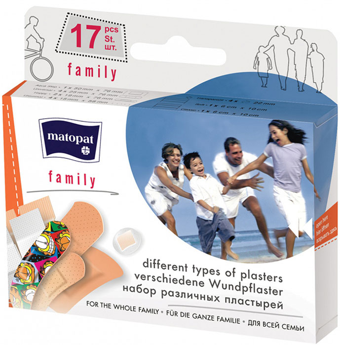 MATOPAT Пластырь Family, 17 шт пластыри matopat transparent 20шт