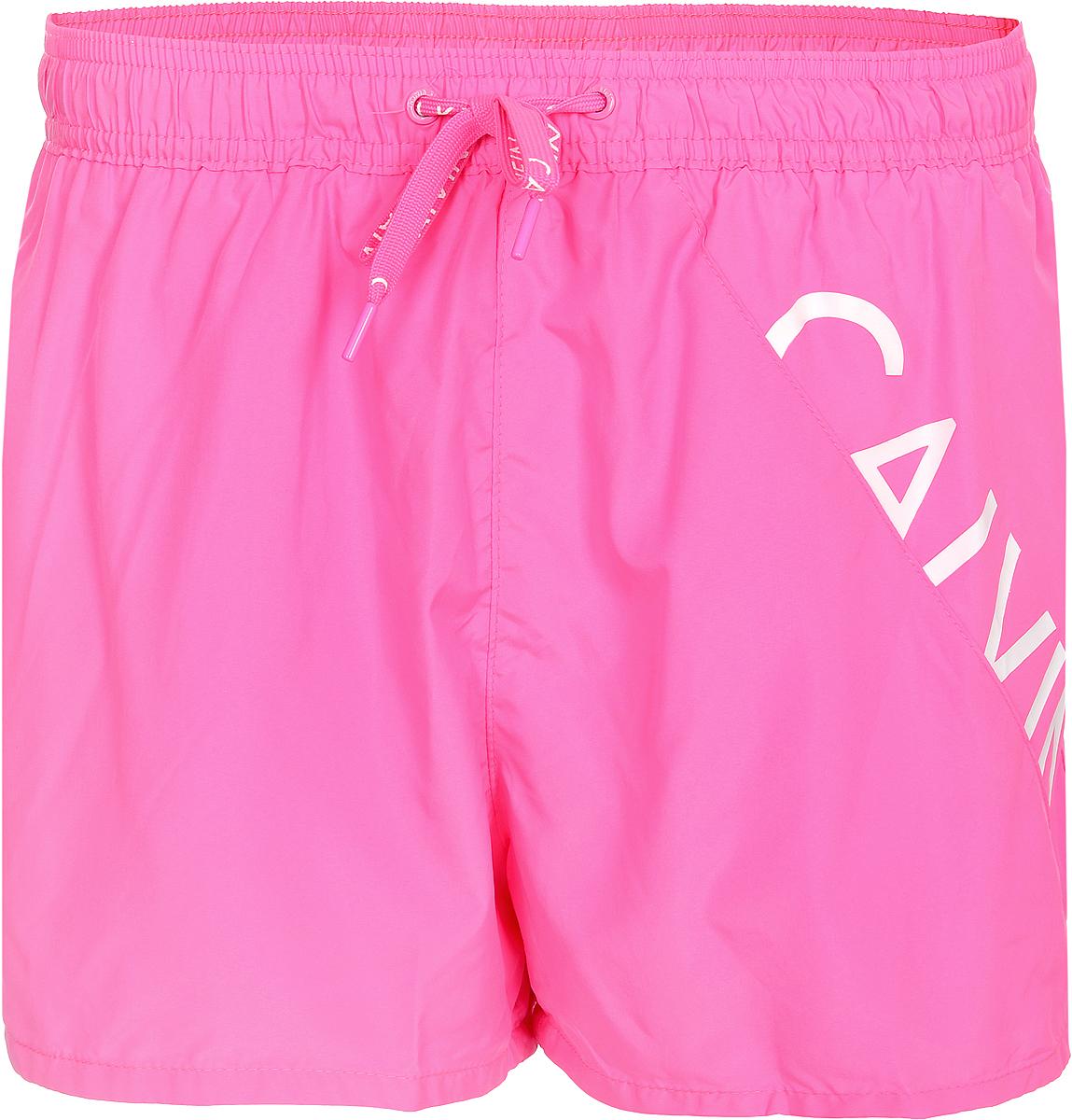 Шорты для плавания мужские Calvin Klein Underwear, цвет: розовый. KM0KM00161_036. Размер L (52) calvin klein new black white colorblock womens size large l crewneck sweater $79