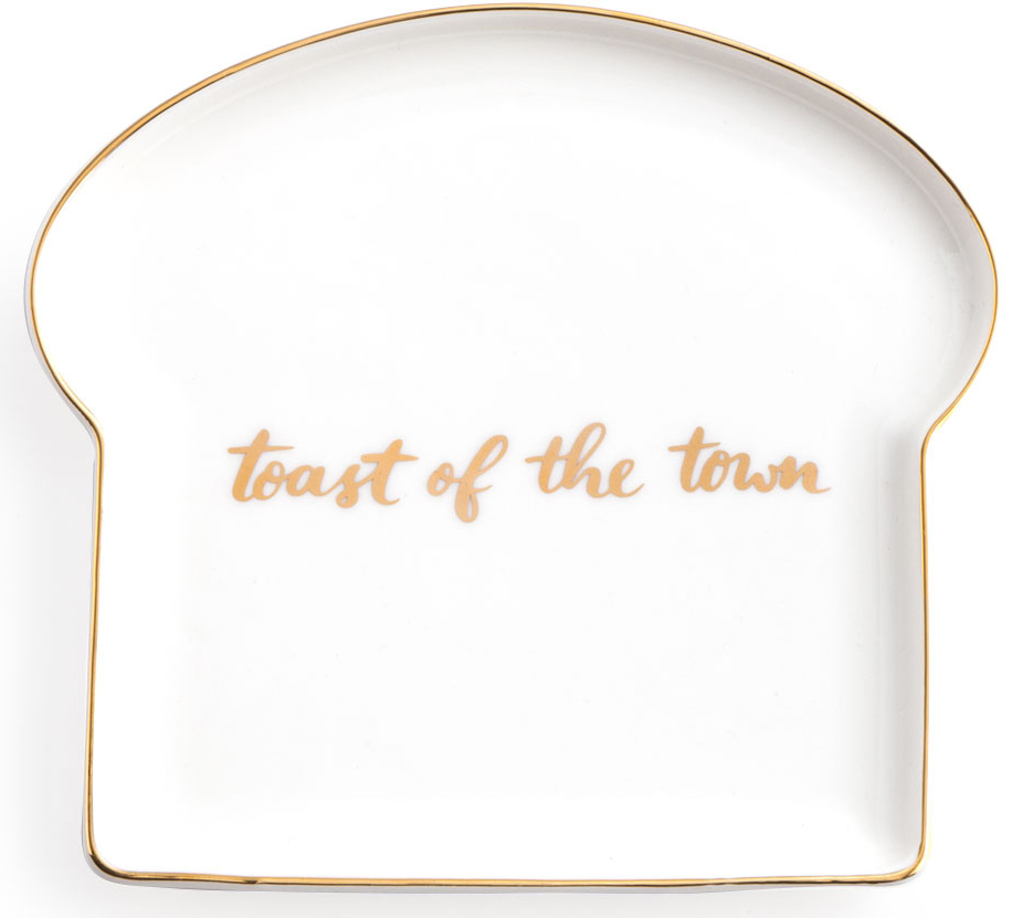 Тарелка для тостов Rosanna Toast Of The Town cutting sliced toast mold white coffee