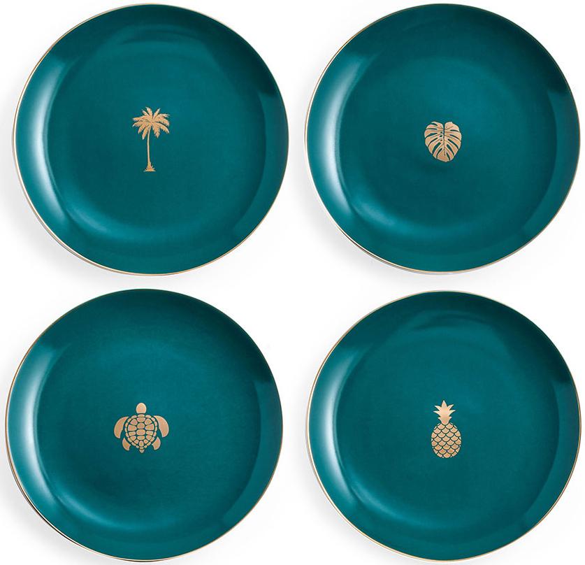 """Набор посуды """"Green"""" состоит из 4 тарелок. Изделия, изготовленные из высококачественного фарфора, с внешней стороны выполнены с глазурованным покрытием. Такой набор будет не только отличным подарком, но и порадует вас за столом."""
