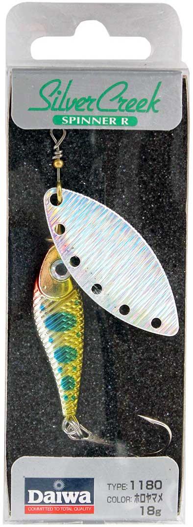 Блесна вращающаяся Daiwa Silver Creek Spinner-R. Holo Yamame, 18 г