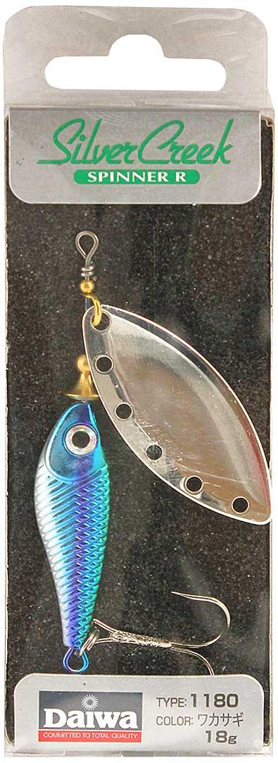 Блесна вращающаяся Daiwa Silver Creek Spinner-R. Wakasagi, 18 г daiwa silver creek n stage ms 83 m