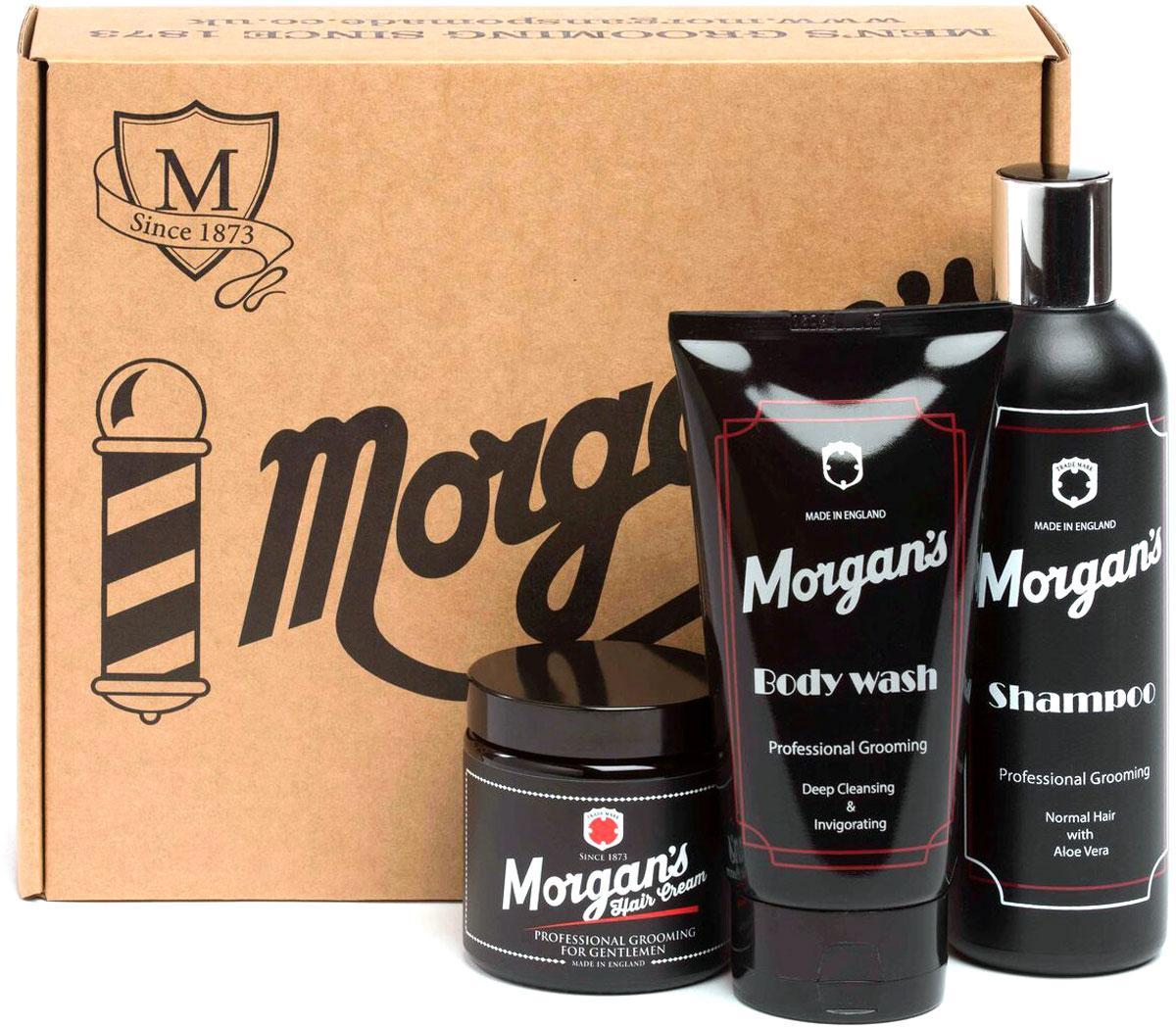 Morgan's Подарочный набор для ухода за волосами и телом: Шампунь + Гель для душа + Крем для укладки волос
