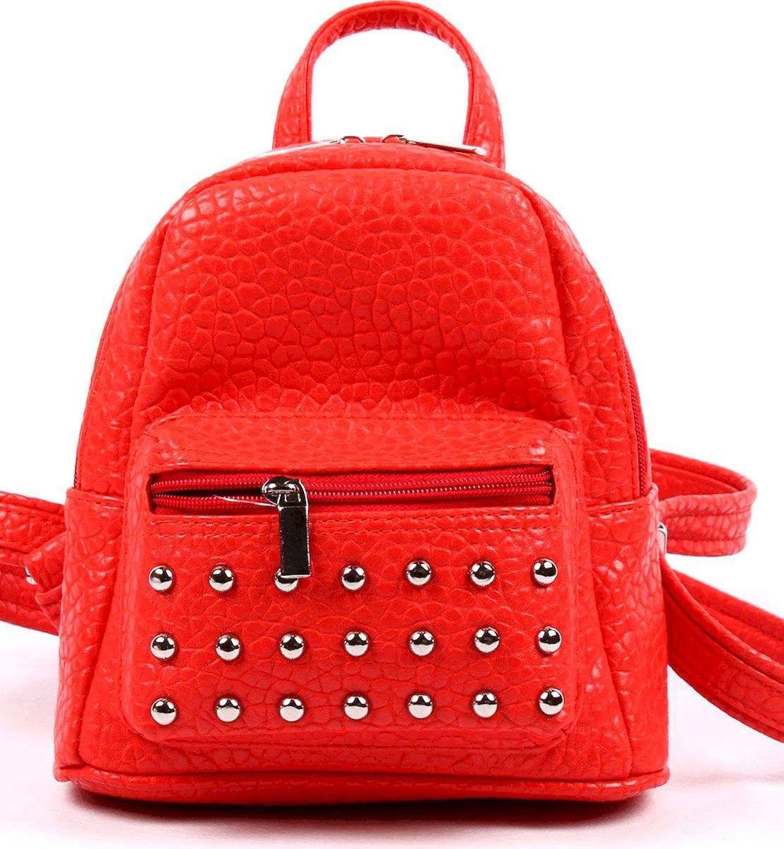 Рюкзак женский Медведково, цвет: красный. 17с0591-к14