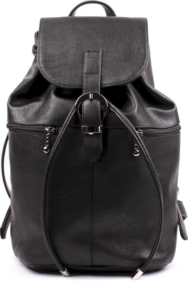 Рюкзак женский Медведково, цвет: черный. 17с4201-к14