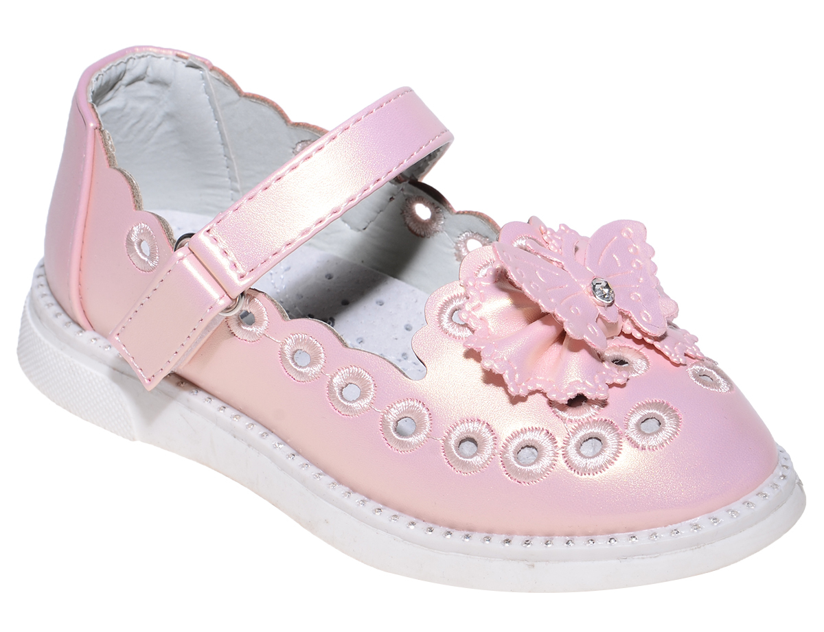 Туфли для девочки Тотошка, цвет: розовый. Y804. Размер 26