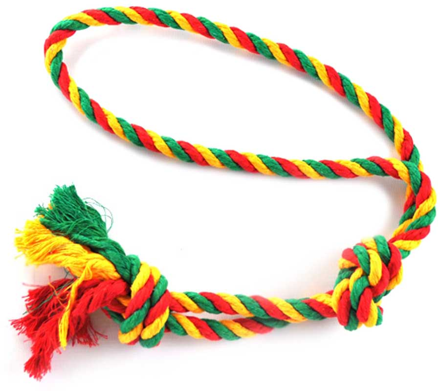 Игрушка для собак Zoobaloo Грейфер, петля + 2 узла, длина 50 см
