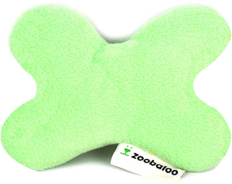 Игрушка для собак Zoobaloo Тканевая кость, шуршащая, цвет: ментоловый, длина 15 см игрушка для кошек zoobaloo погремушка меховик длина 1 м