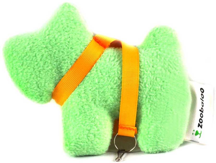 Игрушка для собак Zoobaloo Собачка с поводком, цвет: ментоловый, длина косточки 15 см игрушка для кошек zoobaloo удочка с мышкой длина 40 см