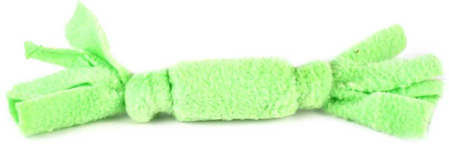 Игрушка для животных Zoobaloo Звонкая конфета, цвет: ментоловый, длина 15 см