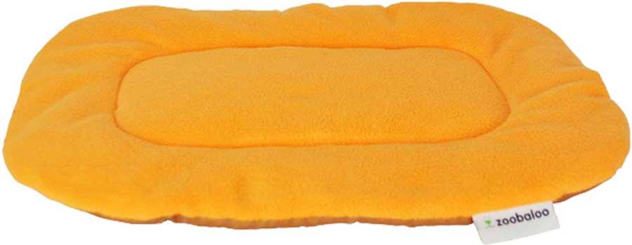 Лежанка для животных Zoobaloo Yoga, цвет: оранжевый. Размер S