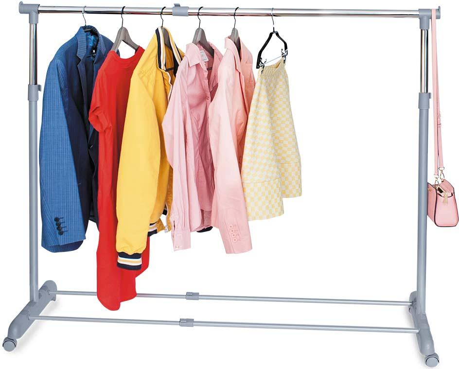 Стойка для одежды Tatkraft Party , регулируемая, цвет: серый стойка для одежды tatkraft pegasus с усиленной базой боковые телескопические штанги