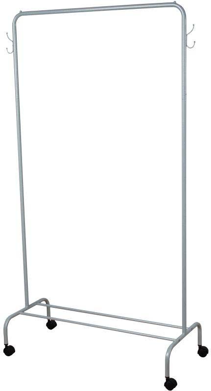 """Вешалка """"Радуга 2"""" подойдет для размещения вашего гардероба. Альтернатива шкафу в спальне, детской и прихожей. Разборная конструкция  позволяет приобрести данное изделие в коробке. Металлическая вешалка надежна и проста в уходе. Данное изделие полностью безопасно в  использовании. Назначение: Гардеробная вешалка для размещения одежды.  Область применения: В любых помещениях – дом, офис, общепит и других.  Материал: Труба диаметров 18 мм, труба диаметром 12 мм; стальные шарики; полимерно-порошковое покрытие.  Конструкция: Разборная.  Упаковка: Коробка.  Габариты (Д х Ш х В):  В собранном виде: 892 х 390 х 1540 мм.  В упакованном виде: 1290 х 405 х 45 мм.  Вес Нетто: 2,06 кг. Вес Брутто: 2,56 кг. Объем: 0,023 м3.  Отличительные особенности:  - Пластиковые заглушки; - Нагрузка до 20 кг; - Вместимость до 15 плечиков; - Полка для размещения обуви."""