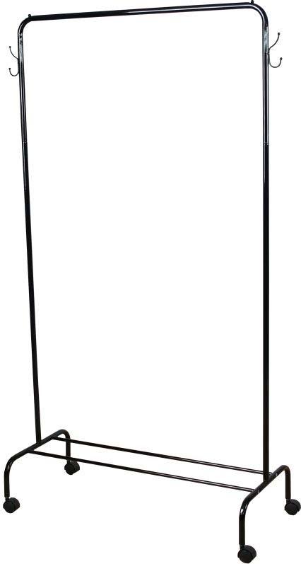 Вешалка гардеробная ЗМИ Радуга 2, с полкой для хранения обуви, цвет: черный, 89,2 х 39 х 154 см стальные шарики 10 мм