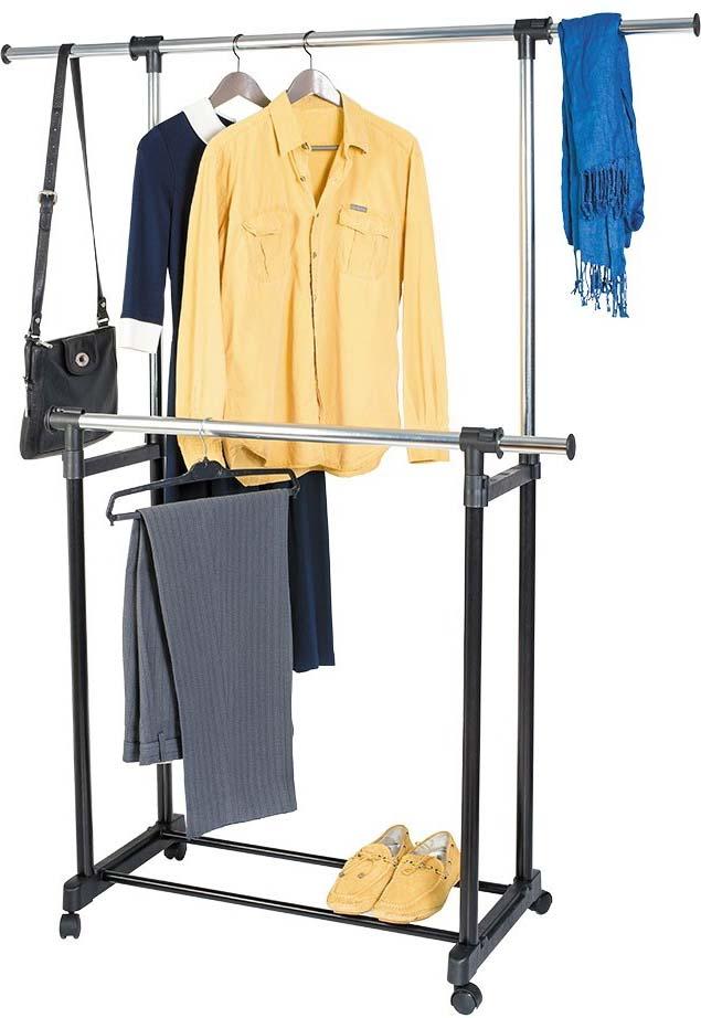 Стойка для одежды Artmoon Toronto, двойная, с боковыми выдвижными штангами, на колесиках