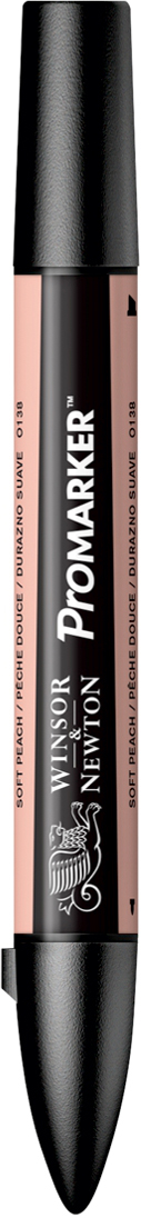 Winsor&Newton Маркер двухсторонний Promarker цвет: o138 персиковый мягкий акварель winsor