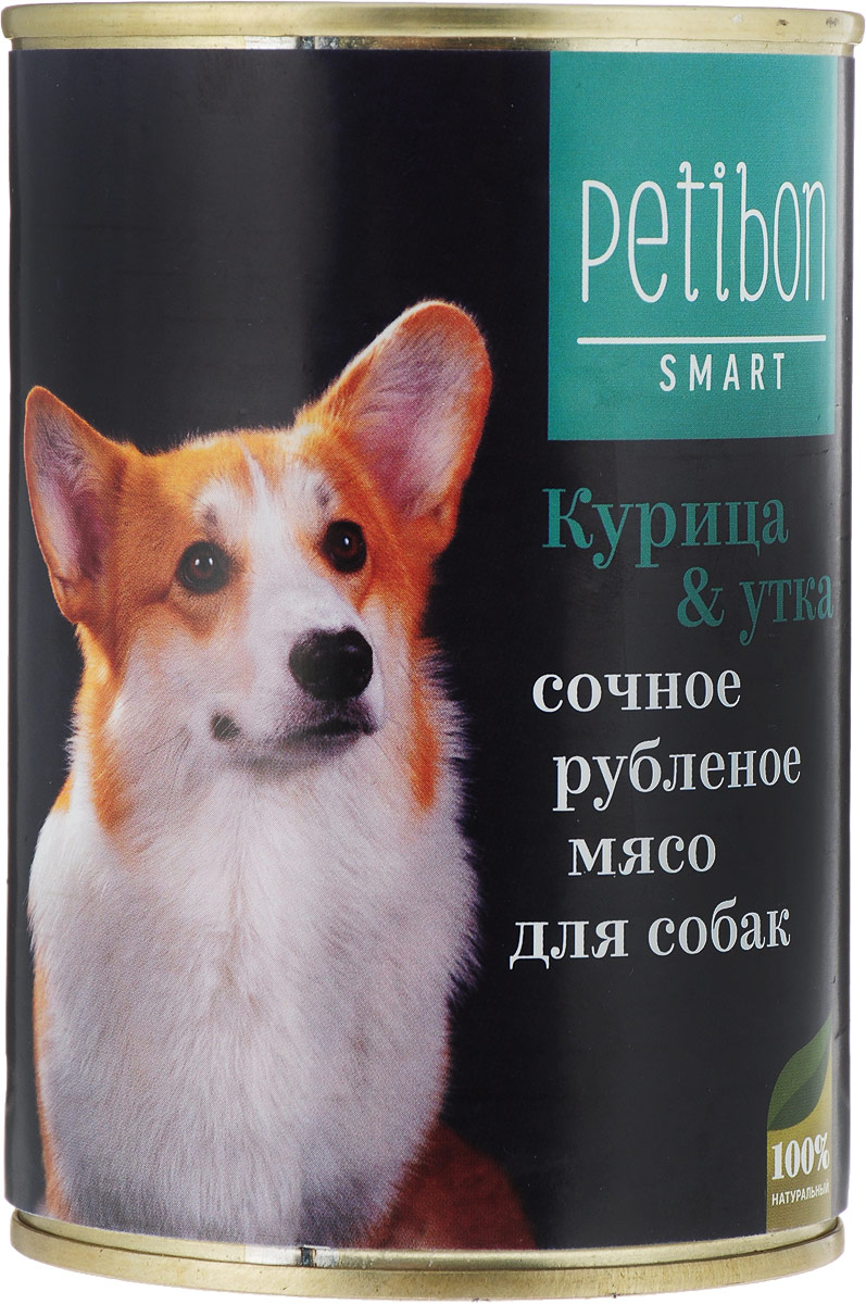 Корм консервированный для собак Petibon Smart Рубленое мясо, с курицей и уткой, 410 г relojes mujer 2016 fashion luxury brand quartz men women casual watch dress watches women rhinestone japanese style quartz watch