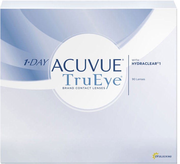 Johnson & Johnson Контактные линзы 1-Day Acuvue TruEye (90 шт. / 8.5 / - 4.00)