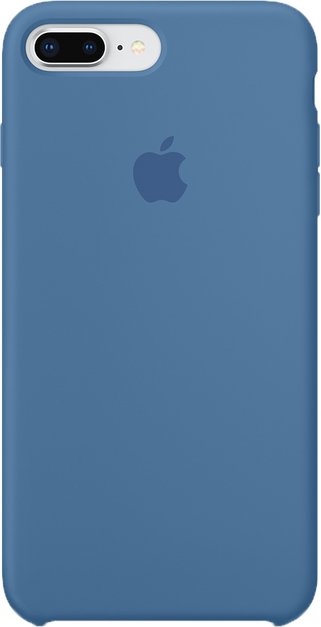 Apple Silicone Case чехол для iPhone 7 Plus/8 Plus, Denim Blue water drops style protective plastic back case for iphone 4 blue