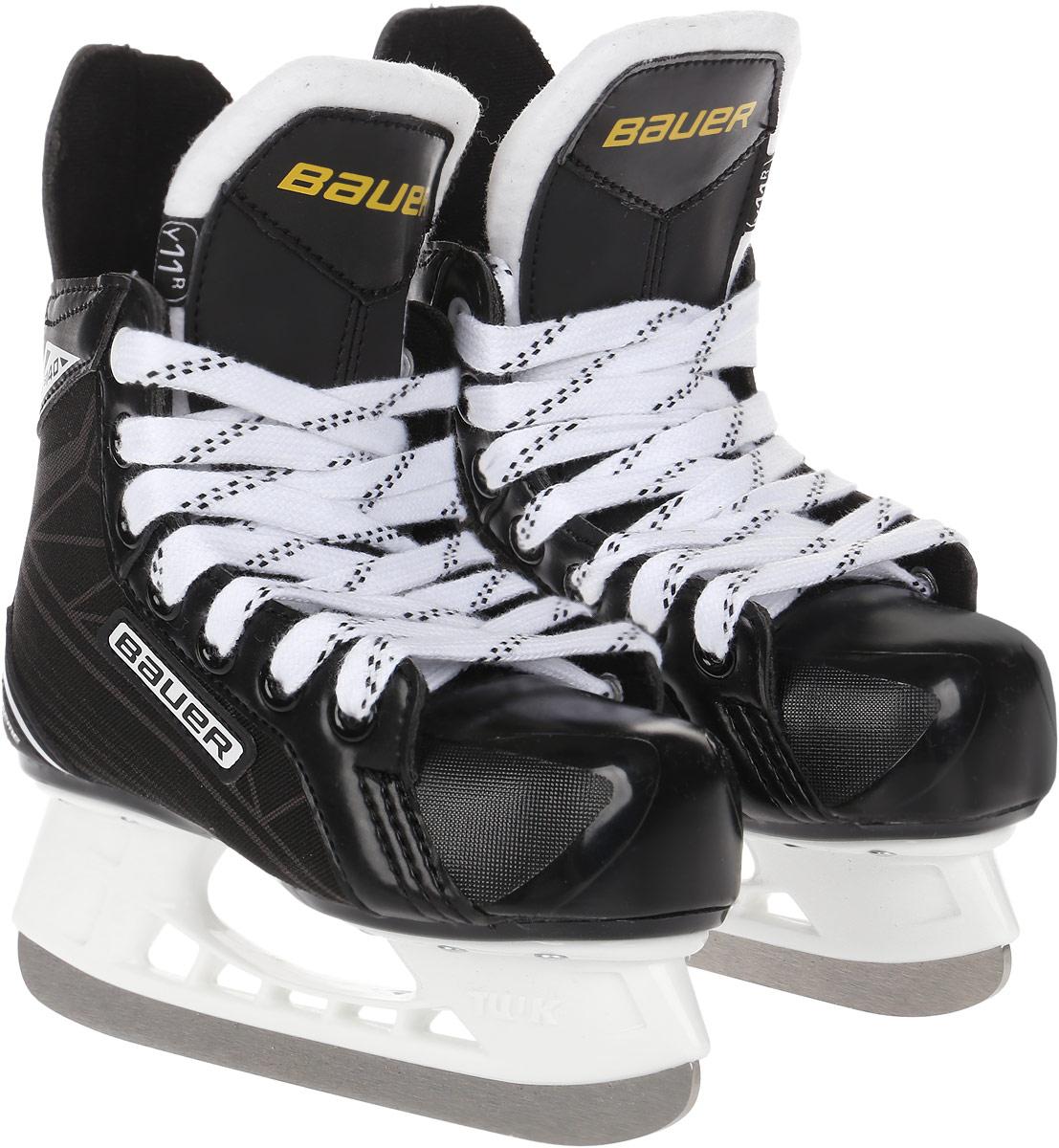 Коньки хоккейные для мальчика Bauer Supreme S140, цвет: черный. 1048627. Размер 29,5 bauer перчатки хоккейные bauer s17 supreme s150