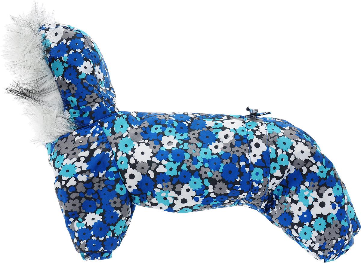 "Комбинезон для собак Dogmoda ""Winter"", зимний, для девочки, цвет: синий. Размер 2 (M)"