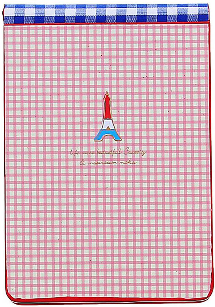 Блокнот Эйфелева башня 112 листов без разметки цвет красный