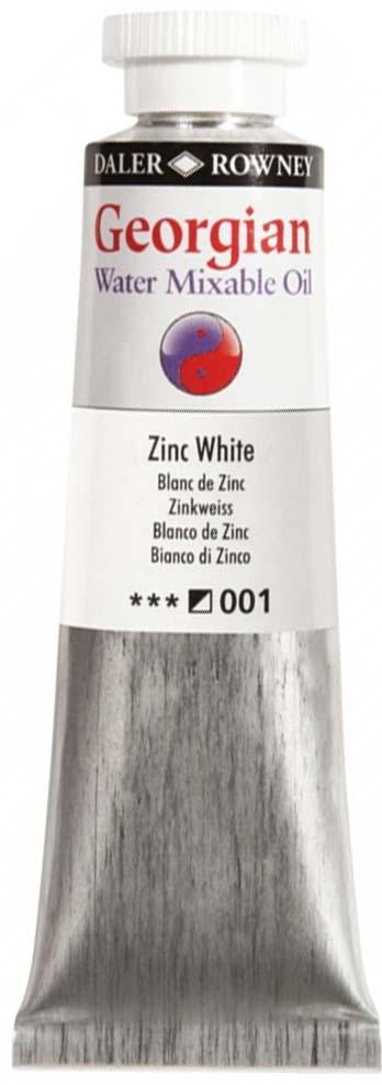 Daler Rowney Краска масляная водоразмываемая Georgian цвет белила цинковые 37 мл