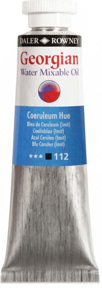 Daler Rowney Краска масляная водоразмываемая Georgian цвет церулеум (имитация) 37 мл
